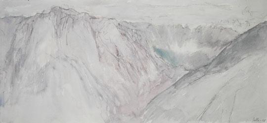 Salla Järvinen: Bolzano, Italia, 2008. akvarellilyijykynä ja akvarelli paperille