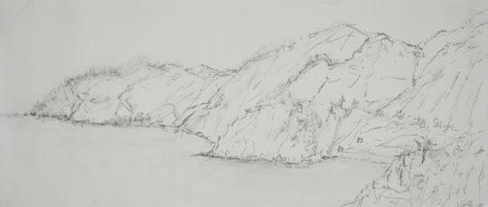 Salla Järvinen: Cinque Terre, Italia, 2008 akvarellilyijykynä paperille
