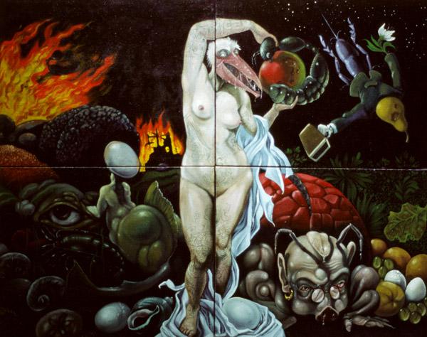 Neljä elementtiä, 2003, akryyli ja öljy