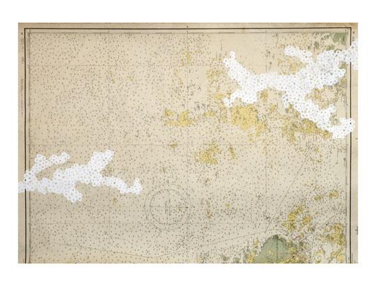 Tero Kontinen: Maisemaluonnos 2, 2008, peiteväri karttapaperille