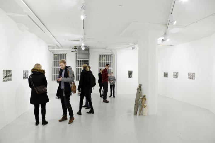 Uuden Jätkän ja Markus Lampisen näyttelyn Blank avajaiset 12.1.2018