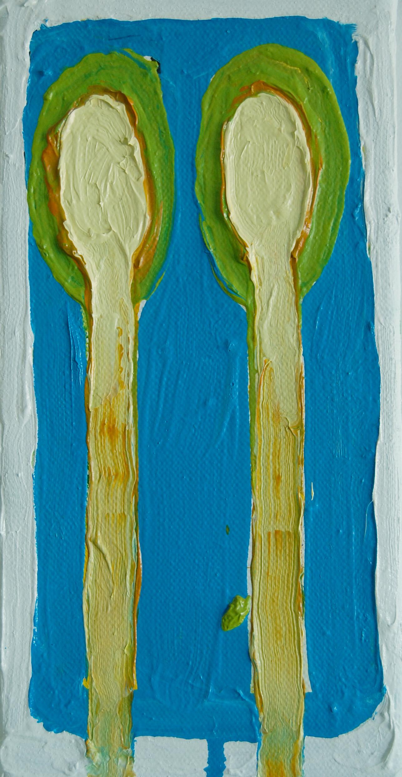 Vihreä Aiai sinivalkoisessa